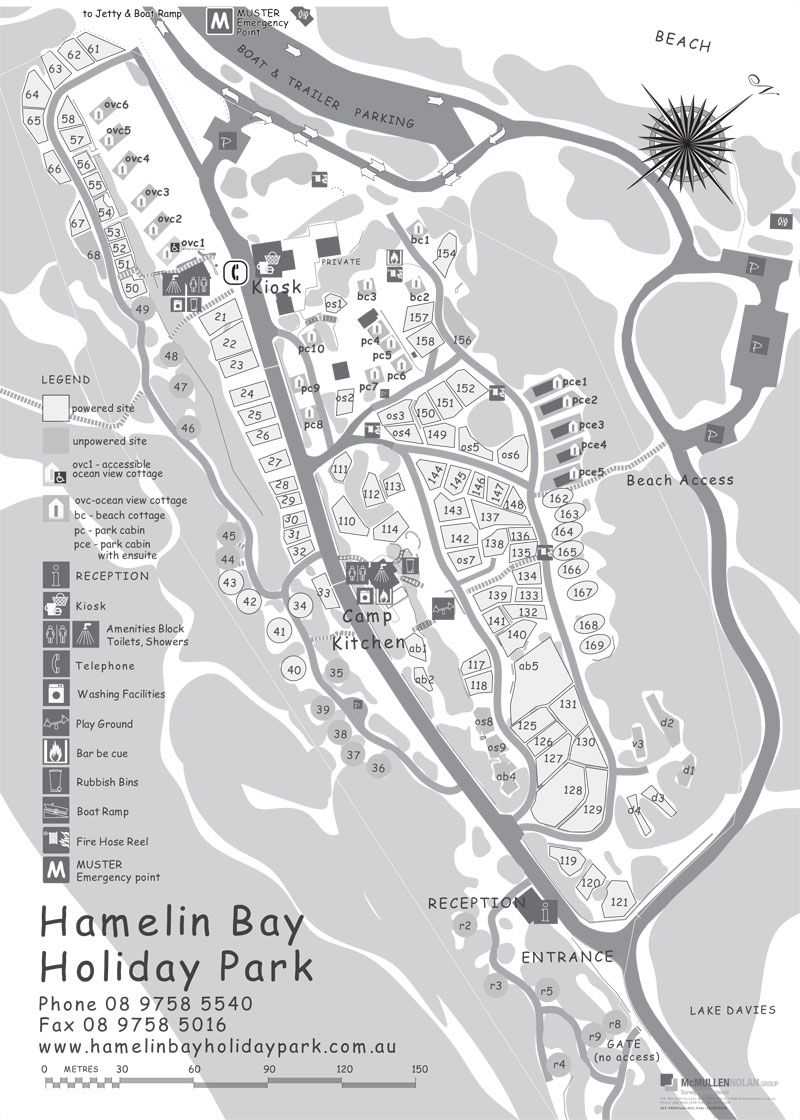 Hamelin Bay map October 2015